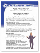 Sparkle When You Speak!™ Brochure