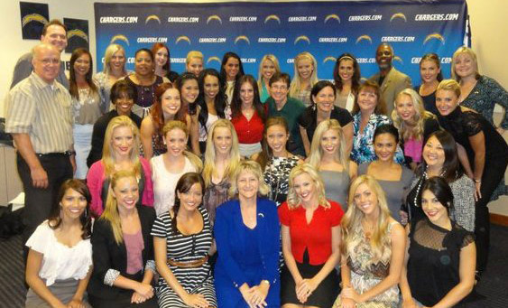 Sheryl Roush Coaching San Diego Charger Girls