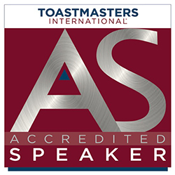 Accredited Speaker / Toastmasters International