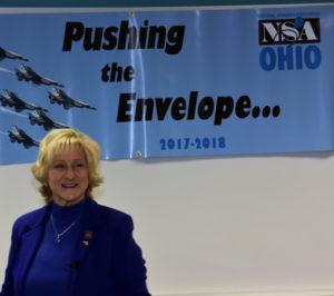 Sheryl Roush speaking at NSA-OHIO